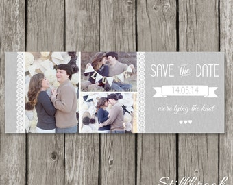 Save the Date Facebook Timeline Cover Photo - Wedding Announcement Template for Photographers - TC13