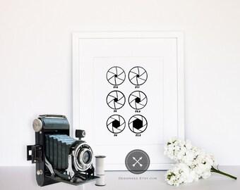 Camera Shutter Apertures Print