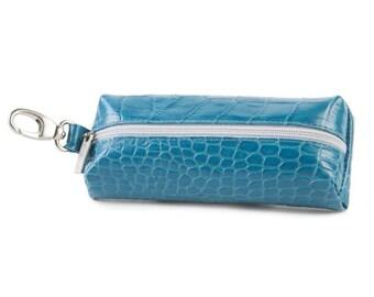 Blue Leather Key Holder, Leather Key Case, Beautiful blue leather key holder,Blue key bag, Blue key case,Soft key bag,Soft key case