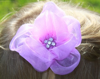 Flower Girl Hairpiece, Lavendar Hairpiece, Purple Hair Flower, Wedding Hair Accessory, Flower Girl Hair Flower, Bridesmaid Hair Flower