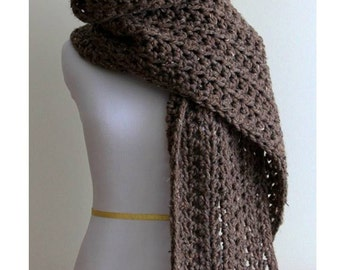 Long knit scarf, chunky long scarf, blanket scarf, winter scarf, Long chunky knit scarf, crochet scarf, soft and easy to wear