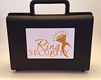Ring Security Briefcase (Gold) -- ring bearer gift, pillow alternative, ring agent, ring bearer