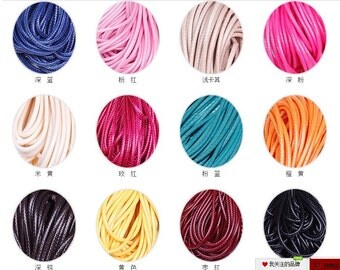 2mm 24 Colors Shamballa Wax Snake Rope String Cords,Jewelry Beading Cord,Fit For Bracelet & Necklace,DIY Accessory Jewelry