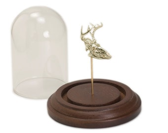 3D Printer Skull Deer Skull Replica Science Art Display White Bronze