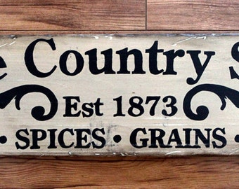 """Rustic wooden sign 'Olde Country Store"""" decorative sign"""