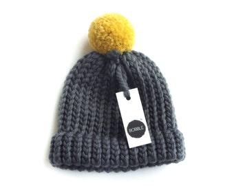 BABY BOBBLE (0-12 Months) 100% Merino Wool Bobble Hat