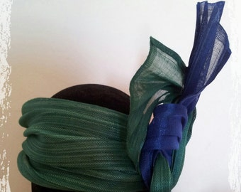 Bibi - headband silk sinamay Pauline