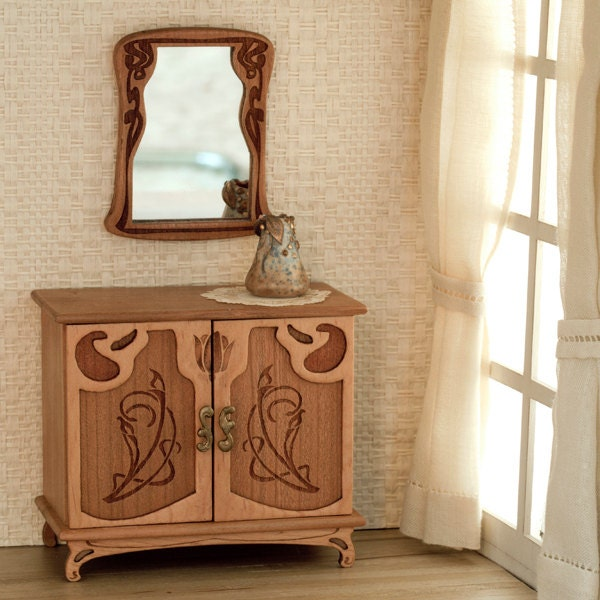 Art Nouveau Cabinet For Bedroom Furniture Scale 1:12