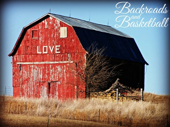 Red Barn Wall Decor : Love red barn fine art home decor wall by