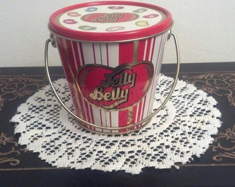 Collectible Jelly Belly Candy Company Tin / 1 Pound  Pail Tin / Jelly Belly Candy Company / Storage Tin / Storage Container  /Candy Tin/F166