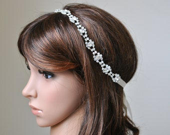 Wedding headpiece, headband, SOPHIA, Rhinestone Headband, Wedding Headband, Bridal Headband, Bridal Headpiece, Rhinestone