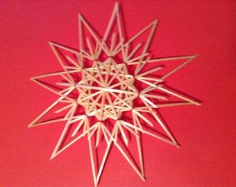Swedish German 6 inch Double Straw Star Ornament