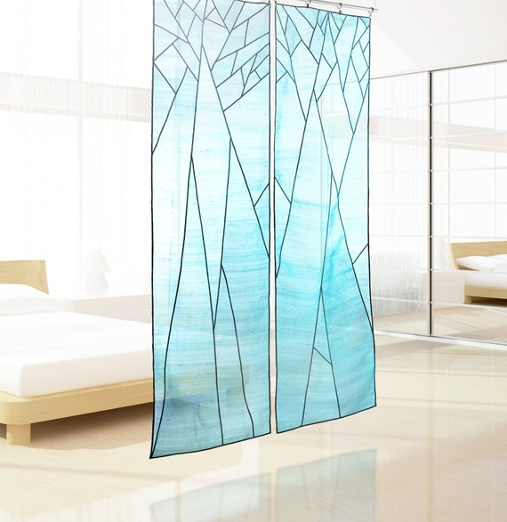 Abstract tree design sheer shade for space d cor korean - Trees for shade in small spaces concept ...