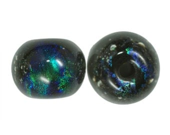 Dichroic Glass Opal Beads 12mm Round