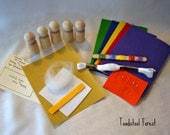 DIY Waldorf Inspired Make Your Own Math Gnome Kit ~ Peg Doll Kit ~ Handwork Activity ~ Kids Craft ~ Gnome Supplies ~ Math Processes
