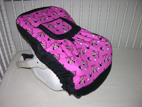 new infant car seat cover m w minnie by cutiepatootiebedding. Black Bedroom Furniture Sets. Home Design Ideas