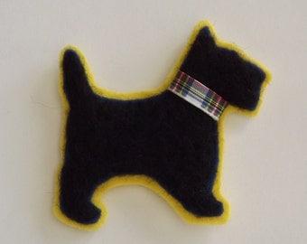 Scottie Dog Hand Needle Felted Brooch