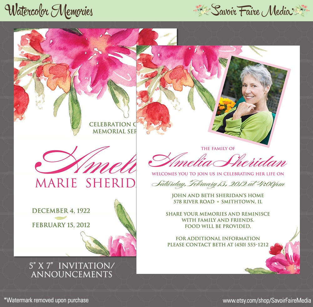 Funeral announcement – Funeral Invitation Cards