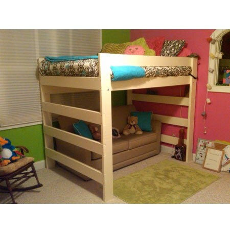 the premier solid wood loft bed 1000 lbs wt capacity queen. Black Bedroom Furniture Sets. Home Design Ideas