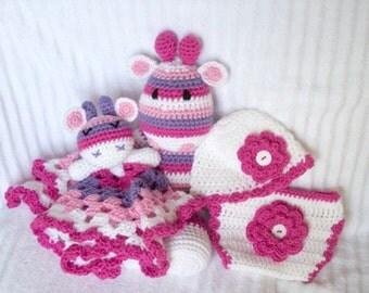 Baby shower gift set elephant stuffed animal elephant baby baby gift set baby girl gift set baby shower gift new baby gift negle Images