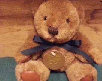 Brown Gund Teddy Bear 85th anniversary 1983