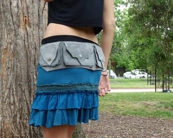 Festival Skirt,Pixie Skirt,Tribal Clothing,Burning Man,Gypsy Clothing,Faerie Skirt,Hippie,Boho,Goa,Elven,Tutu,Doof,Bohemian,Gift For Her