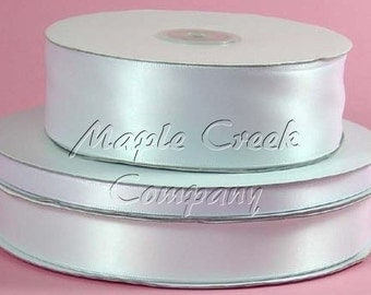 5/8 inch x 100 yards of White Double Face Satin Ribbon
