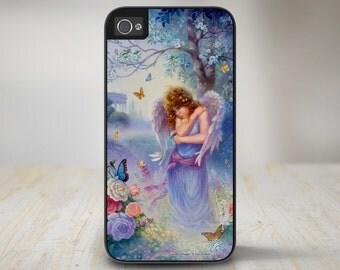 """50-7011 """"Garden Whisper"""" Angel Butterfly Roses Garden iPhone 5 Case, iPhone 5s Case, iPhone 4/4s Case Protective Phone Cases"""