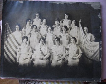 1920's Ladies in Uniform W.B.A. Butte Montana Photograph, Photo Zubick Art Photo Butte Montana