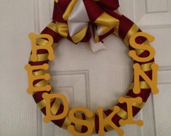 NFL wreath custom made for any team. Holiday wreaths also available.