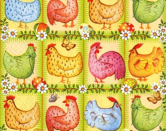 "6 Decoupage Paper Napkins Easter Chicken Egg  33x33 cm. 13""x13"" set of 6 pcs"
