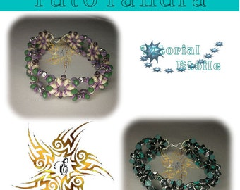 Pattern Tutorial  step by step Sakkara Bracelet (Italian/french)