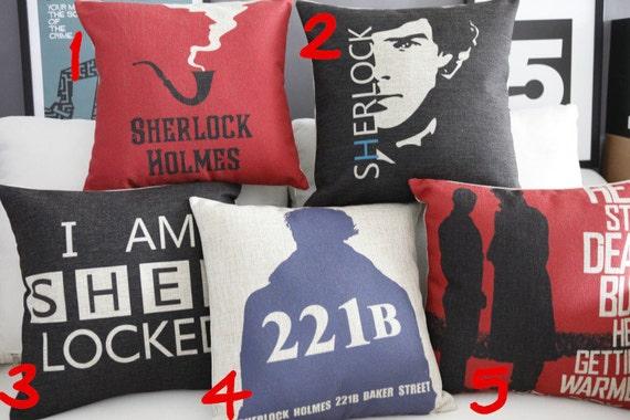 Sherlock Pillow cover/ Pillow case/ Throw pillow/Cushion cover/ Houseware decor/Handmade pillow/Linen pillow/ pillow cover p2