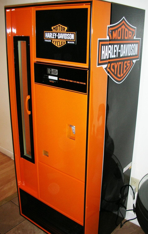 Man Cave Refrigerator For Sale : S harley davidson themed beer soda pop vending