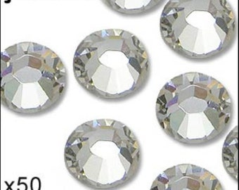 Crystal diamante. Hot fix. 1 pack of 50 Size 5mm/ss20. JR02310