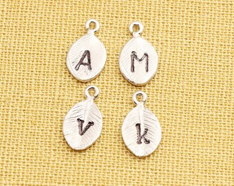 Additional Stamped Initial on Leaf Charm