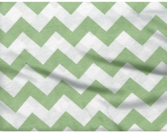 Spring Green Chevron Jersey Knit By the Yard, Knit, Hemlock Green Sold by the Yard 5047
