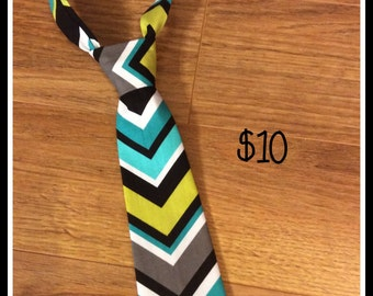 Little Boy Necktie CHEVRON  / Handmade Little Boy Neck Tie