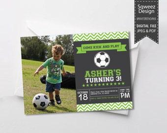 Soccer Invitation - JPEG & PDF File