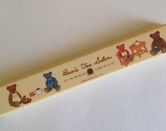 1990s Sanrio Bear's Tea Salon chopstick case - adorable rare character!