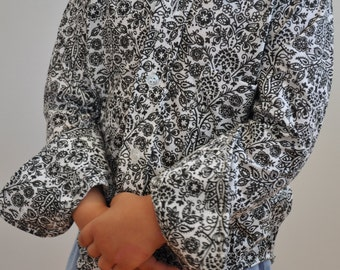 Brand new fab 70's little boys paisley body shirt
