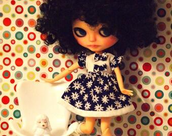 Floral dress for Blythe doll, pullip