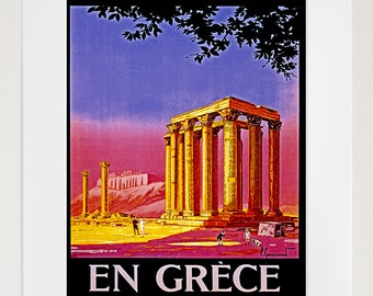 Greece Travel Poster Greek Decor Wall Art Print (ZT252)