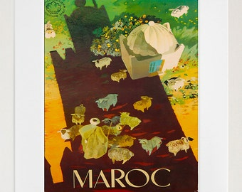 Morocco Art Travel Poster Print Moroccan Wall Decor (XR127)