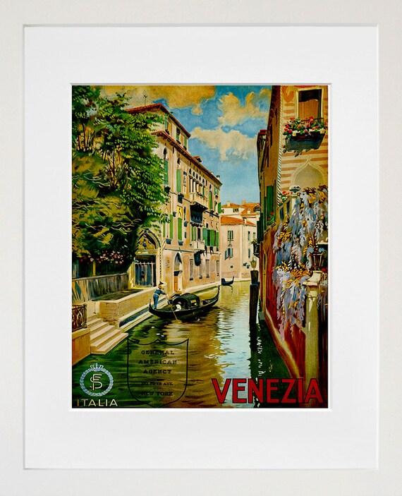 Travel Art Print Venice Italy Vintage Home Decor Poster