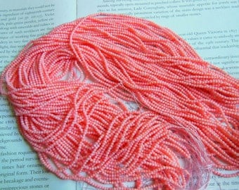 Tiny size coral beads, 2mm, pink color, 15.5 inch