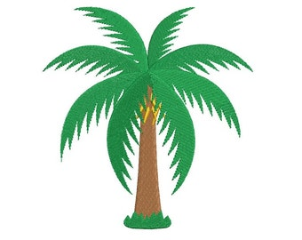 Palm Tree Filled Machine Embroidery Digitized Design Pattern  - Instant Download - 4x4 , 5x7, and 6x10 -hoops