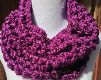 Purple Infinity Cowl; Purple Infinity Cowl; Purple Crochet Cowl; Purple Crochet Cowl; Crochet Scarf; Womens Cowl; Handmade Cowl;