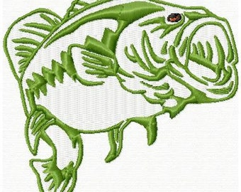Embroidered Largemouth Bass Design