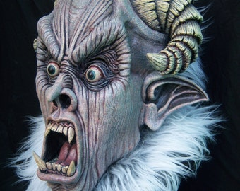 Krampus latex mask for Christmas or Halloween